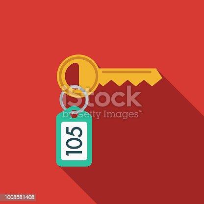 istock Hotel Key Flat Design Travel & Vacation Icon 1008581408