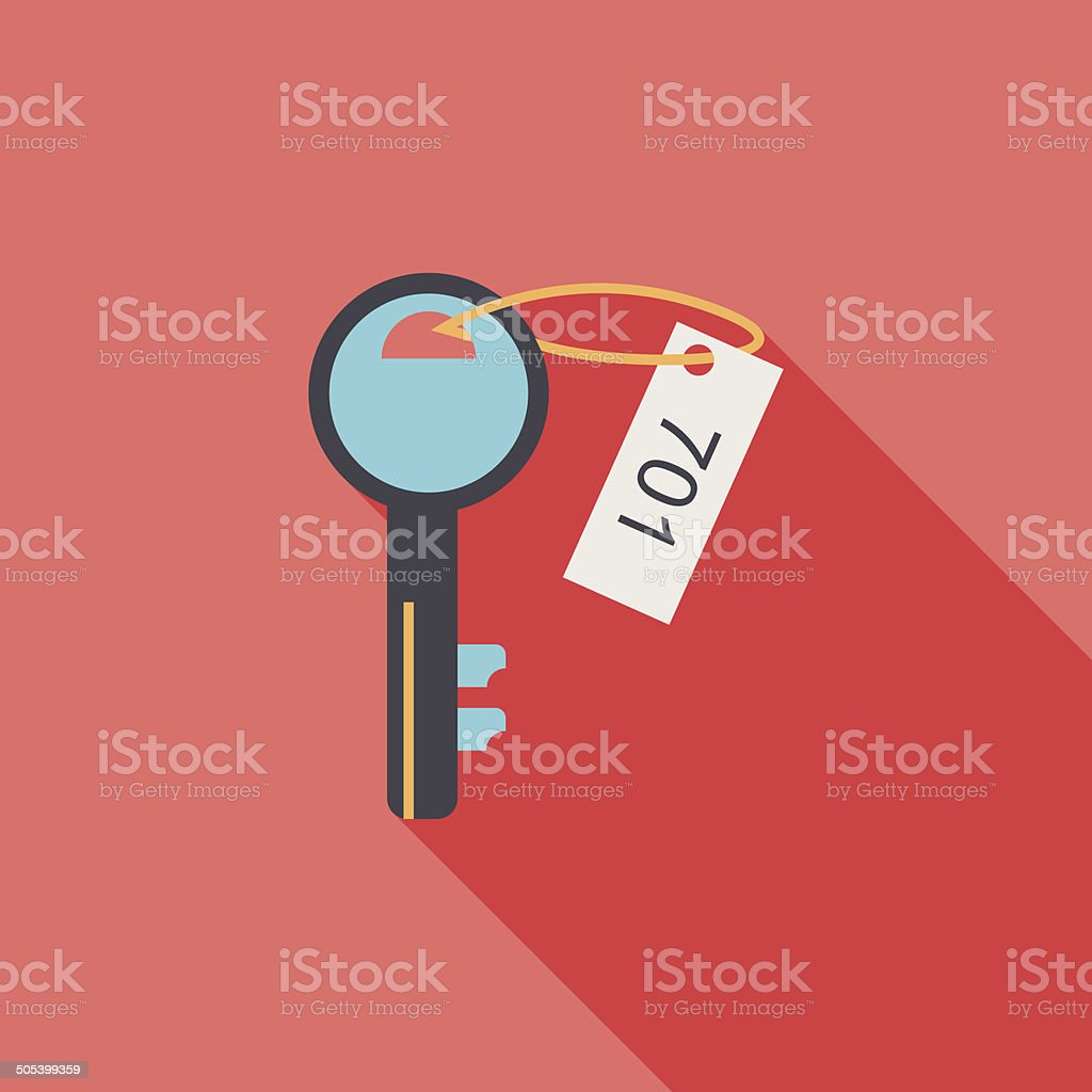 hotel key flat icon with long shadow royalty-free hotel key flat icon with long shadow stock vector art & more images of airport