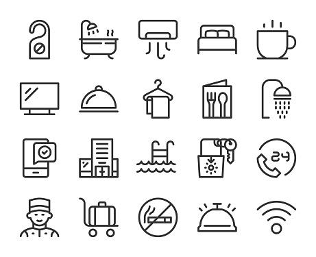 Hotel - Line Icons