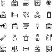 Hotel Line Vector Icons 10
