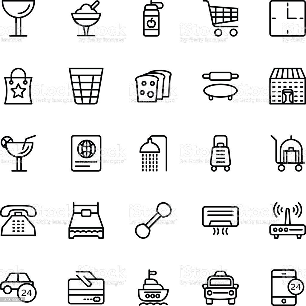 Hotel Line-Vektor-Icons 8 – Vektorgrafik