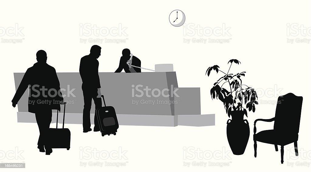 Hotel Lobby Vector Silhouette vector art illustration