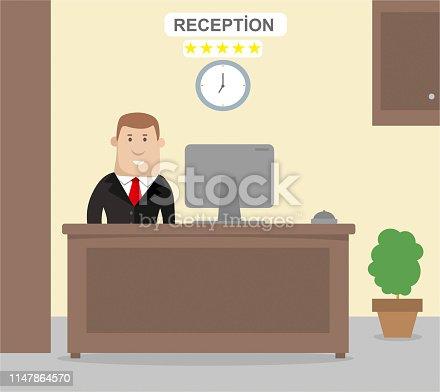 istock Hotel Reception 1147864570