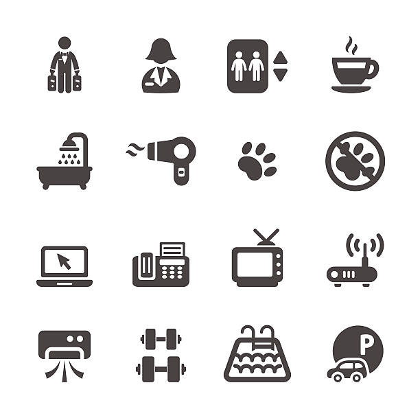 hotel service icon set 7, vector eps10 hotel service icon set 7, vector eps10. personal land vehicle stock illustrations