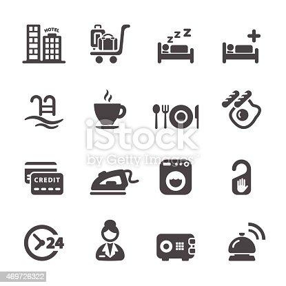 hotel service icon set 8, vector eps10.