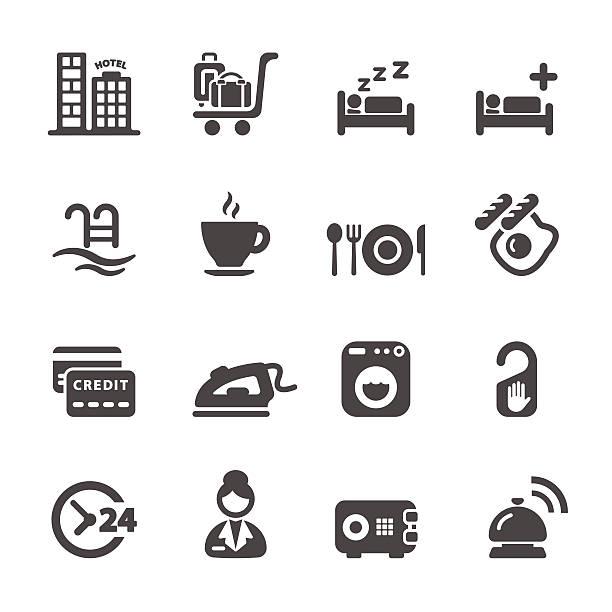 stockillustraties, clipart, cartoons en iconen met hotel service icon set 8, vector eps10 - 2015