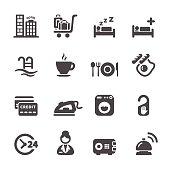 hotel service icon set 8, vector eps10
