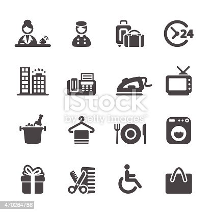 hotel service icon set 9, vector eps10.
