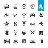 Hotel Services & Facilities vector icons