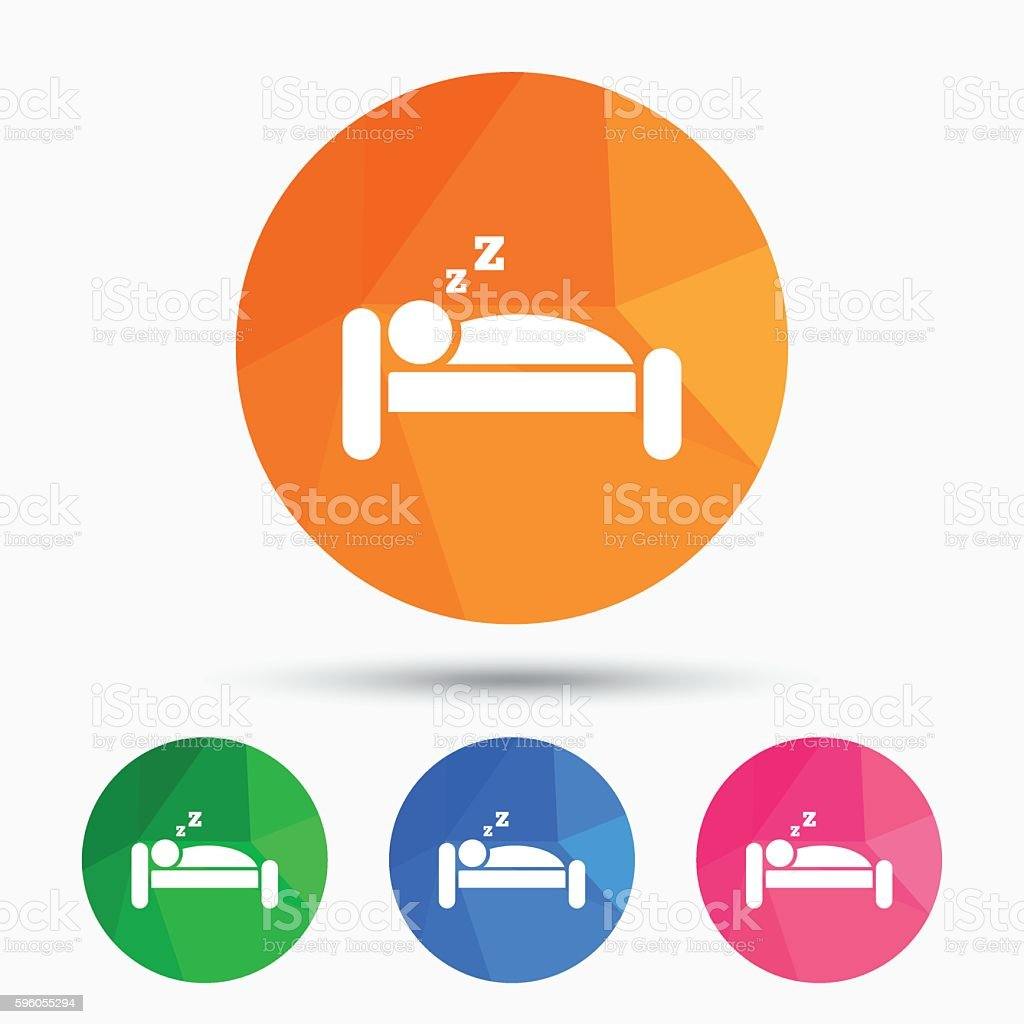 Hotel sign icon. Rest place. Sleeper symbol. royalty-free hotel sign icon rest place sleeper symbol stock vector art & more images of adult