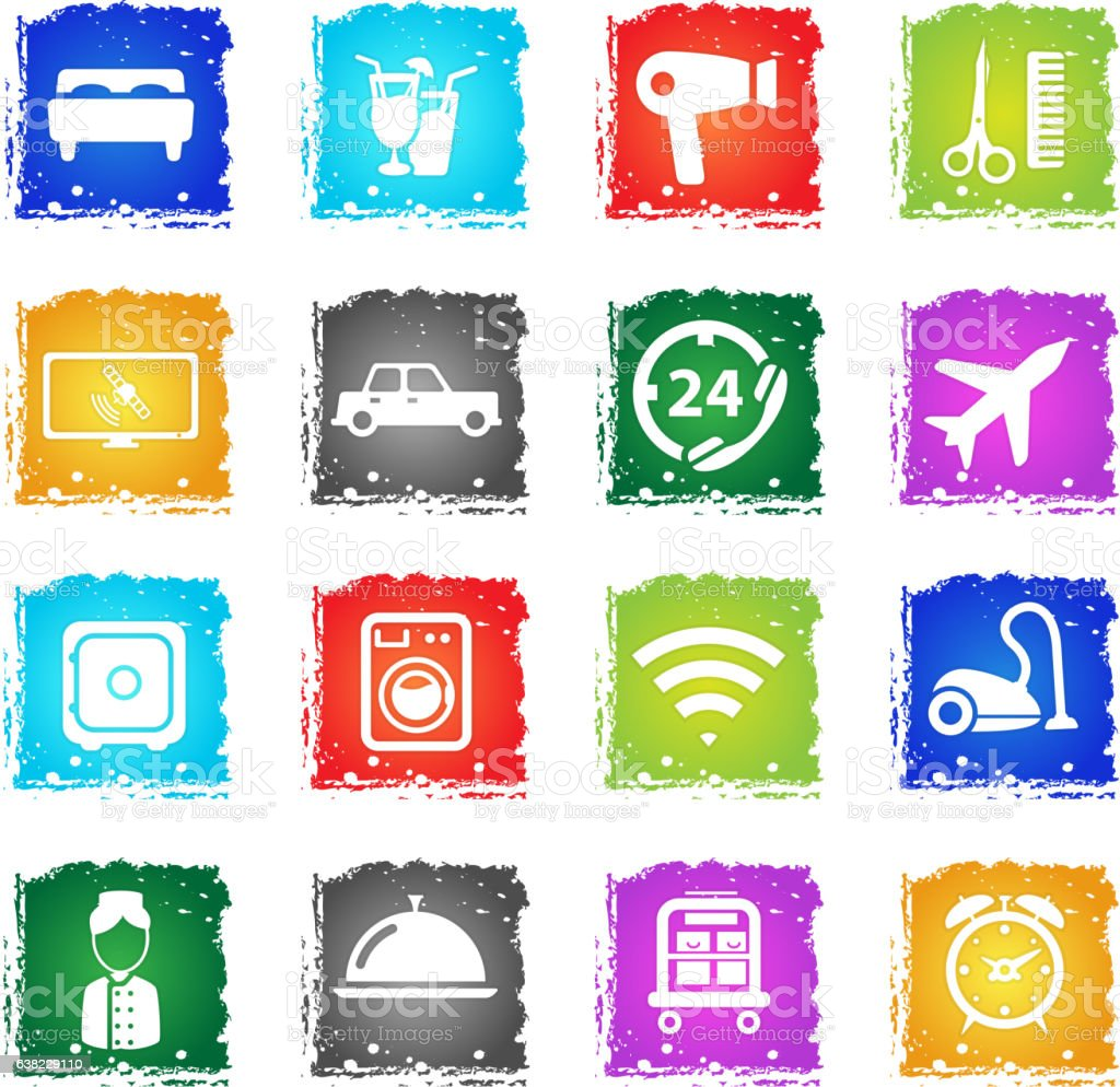 A Hotel Simply Hotel Simply Icons Stock Vector Art 638229110 Istock