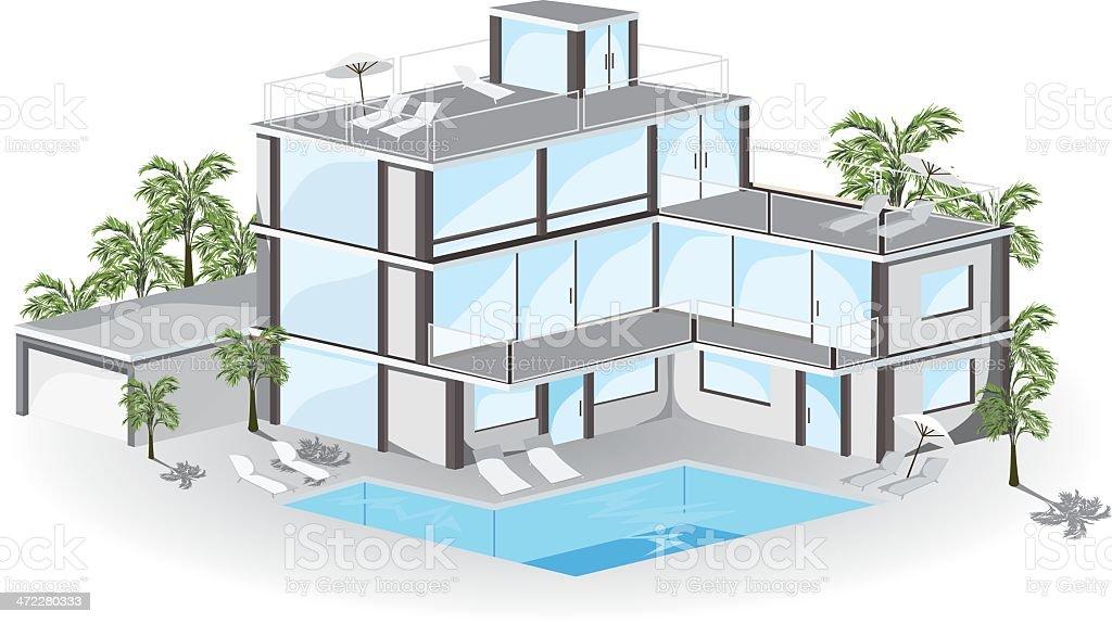 Hotel. vector art illustration