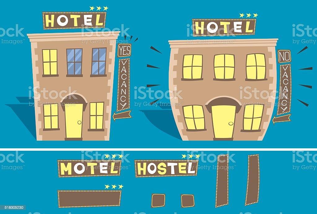 Hotel vector art illustration