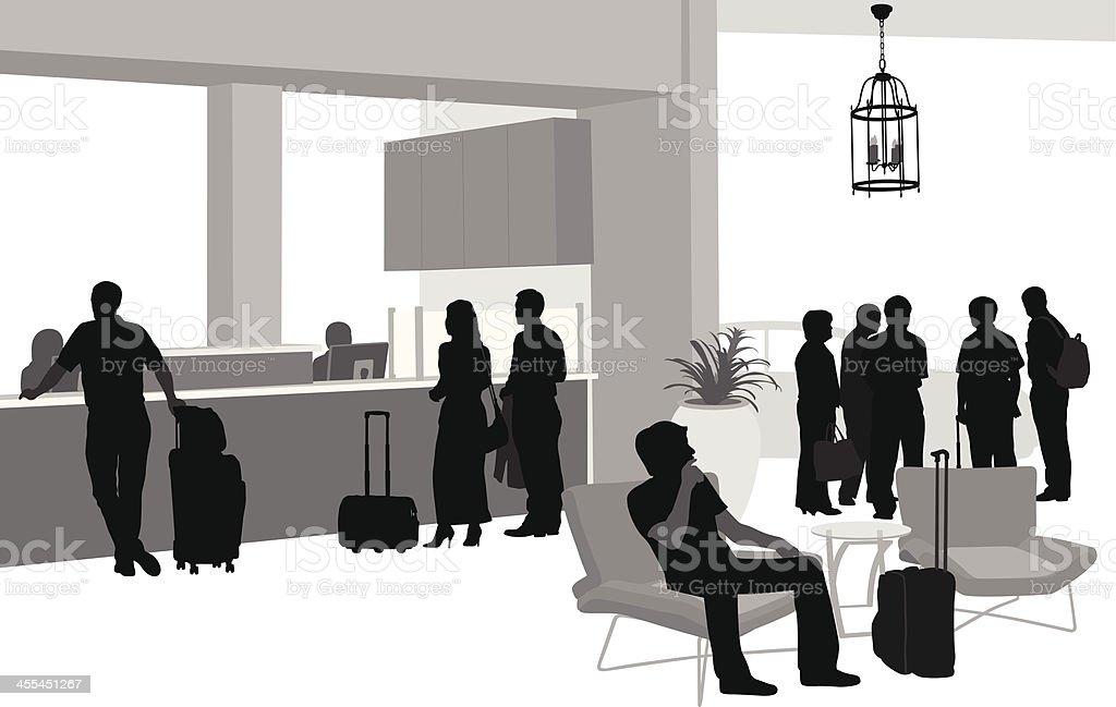 Hotel'n Travel royalty-free stock vector art