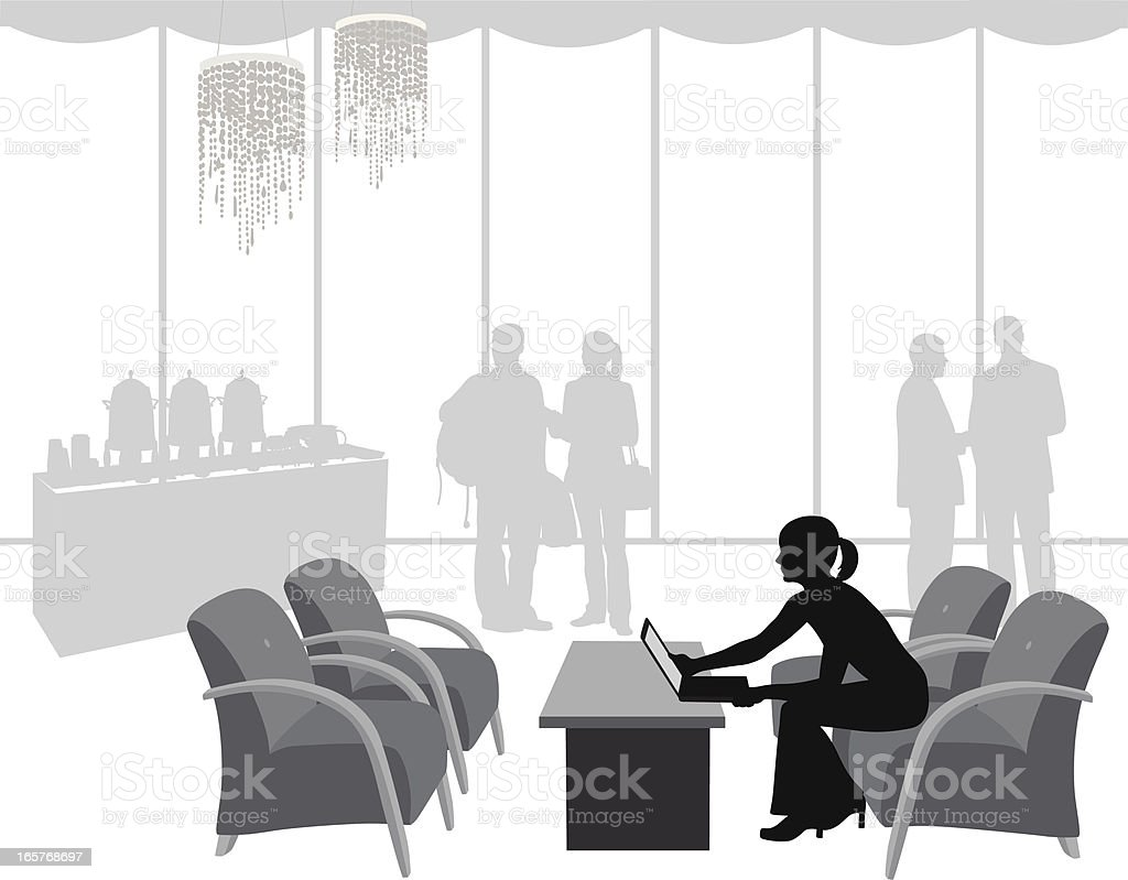Hotelry Vector Silhouette royalty-free hotelry vector silhouette stock vector art & more images of adult