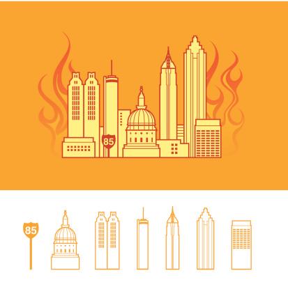 """""""Hotlanta"""": Cityscape of Atlanta Georgia USA"""