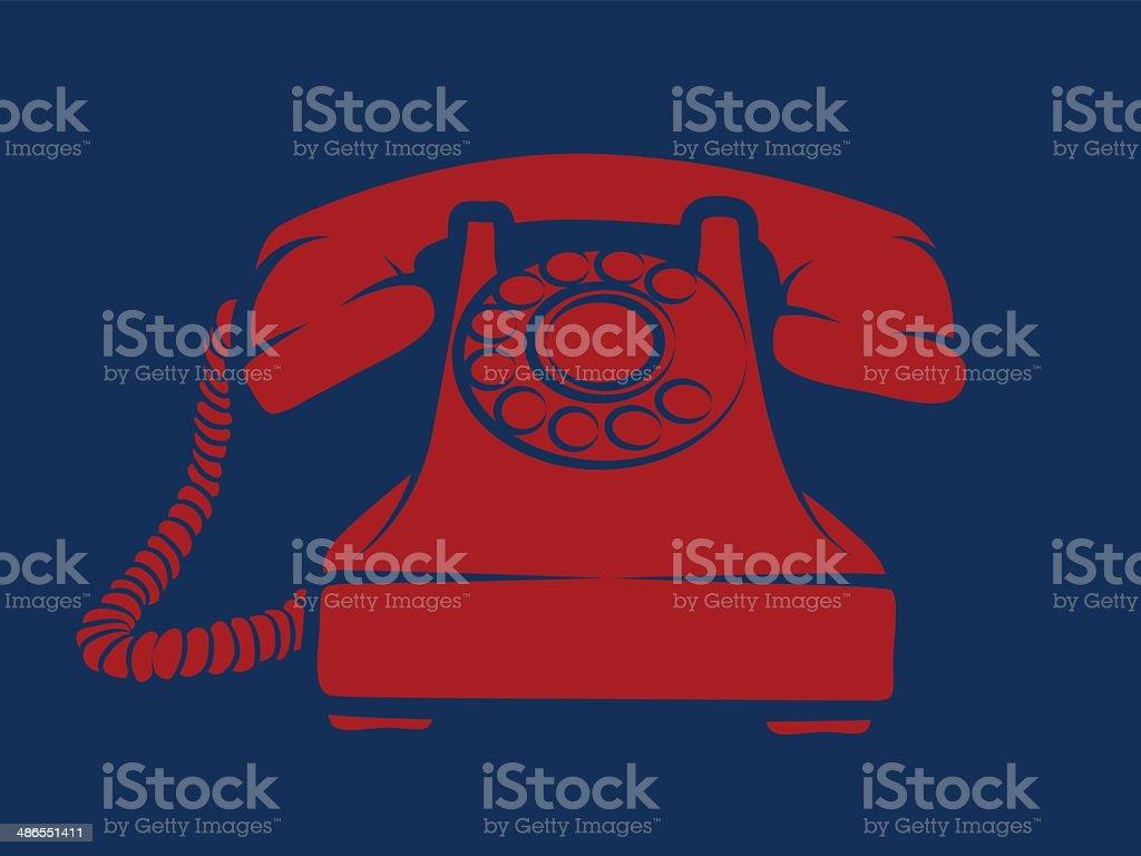 Hotline Red Phone Illustration vector art illustration
