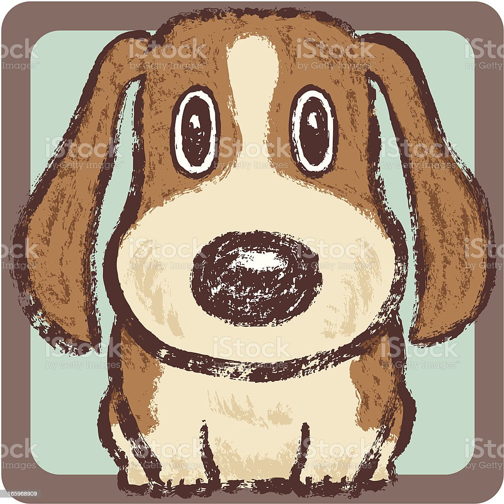 Hound square royalty-free stock vector art