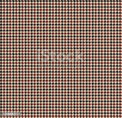 istock Houndstooth fabric 1206682211