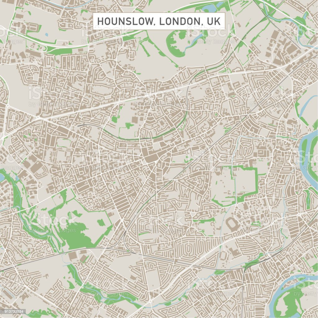 hounslow london uk city street map royalty free hounslow london uk city street map stock