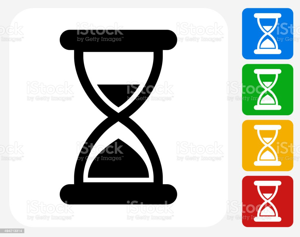 hour glass icon flat graphic design stock vector art
