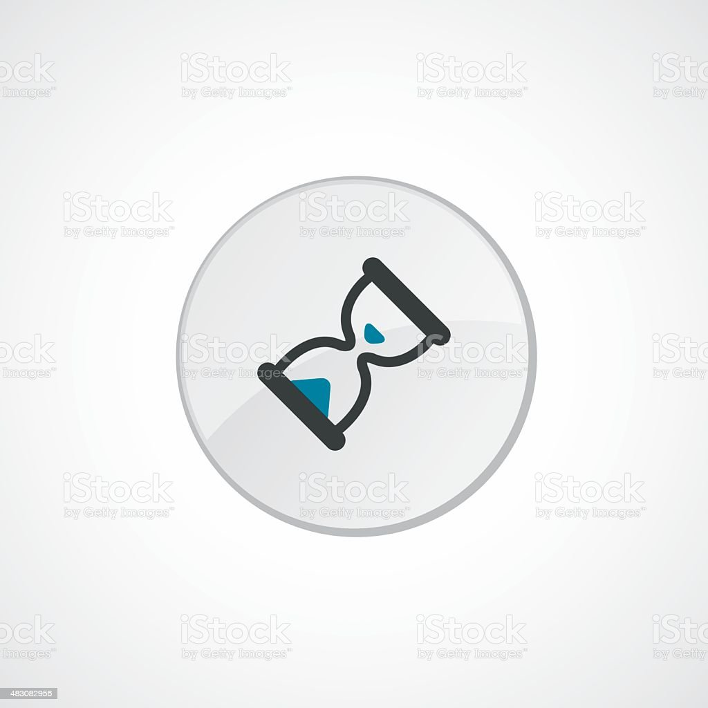 hourglass icon 2 colored vector art illustration
