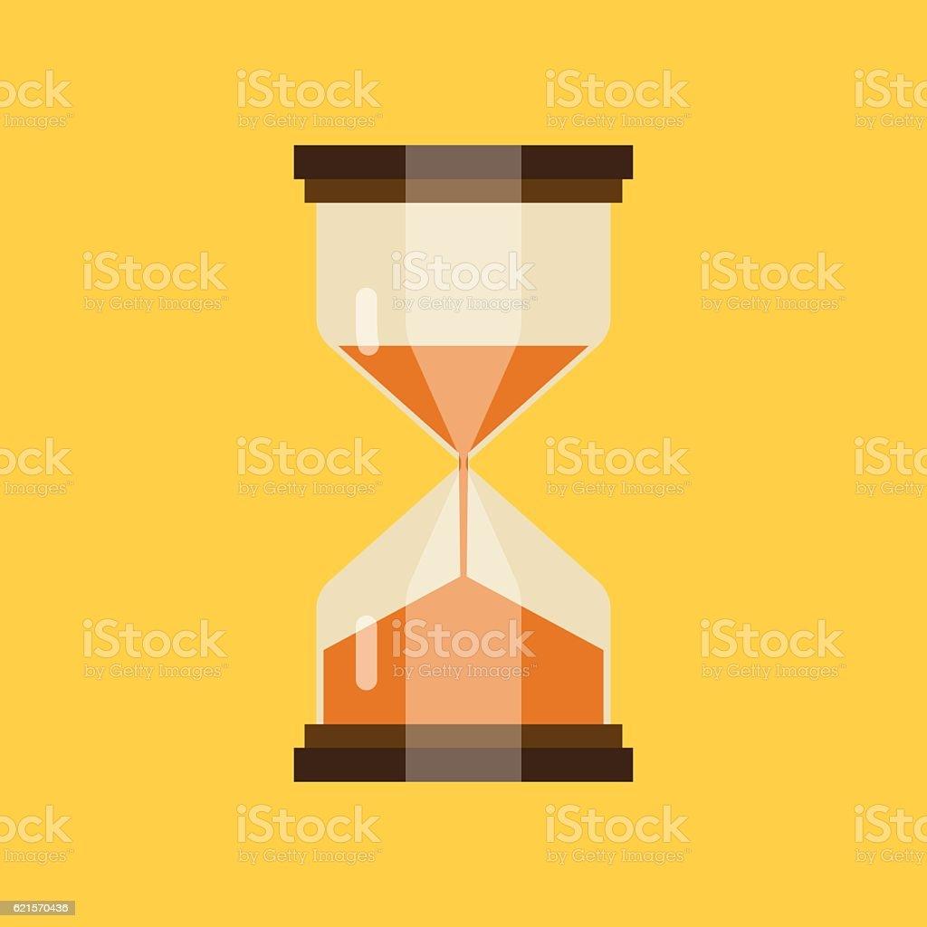 hourglass icon flat hourglass icon flat – cliparts vectoriels et plus d'images de carré - composition libre de droits