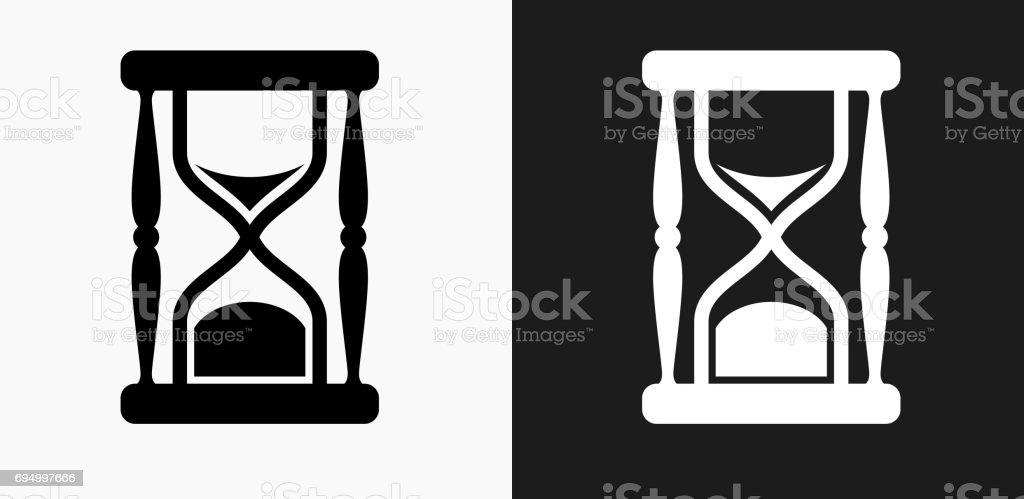 Ilustración De En Blanco Y Negro Fondos De Vector Icono De Reloj De