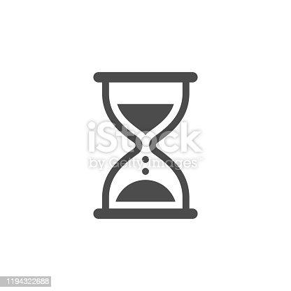 Hourglass icon stock illustration