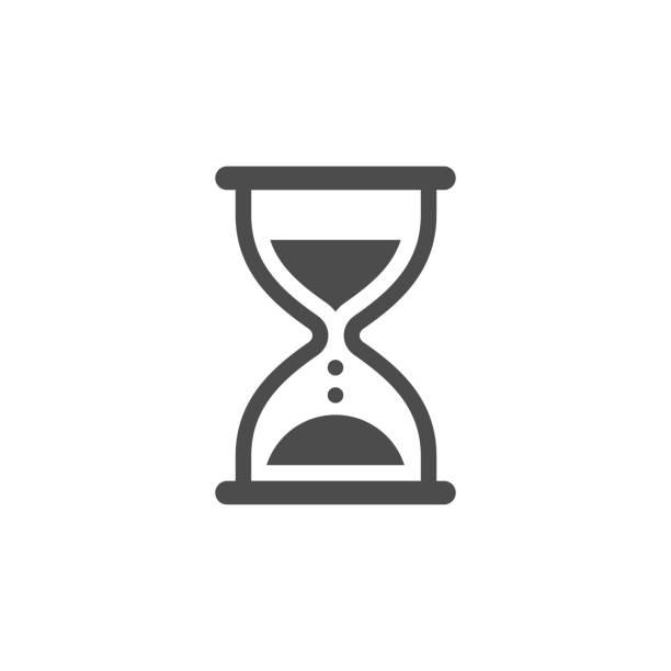 illustrations, cliparts, dessins animés et icônes de illustration de stock d'icône de sablier - minuteur