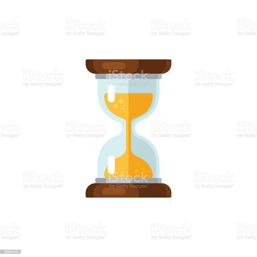 Hourglass icon vector art illustration