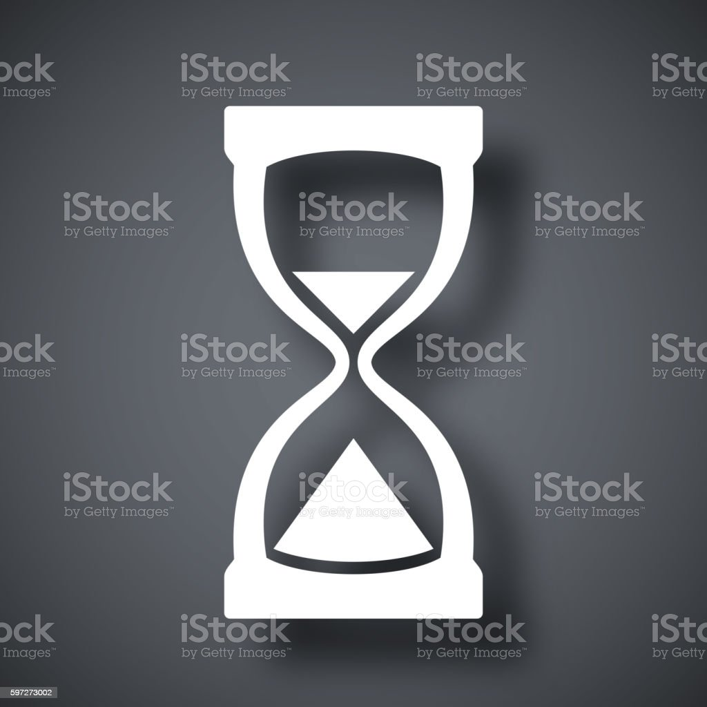 Hourglass icon, vector royalty-free hourglass icon vector stock illustration - download image now