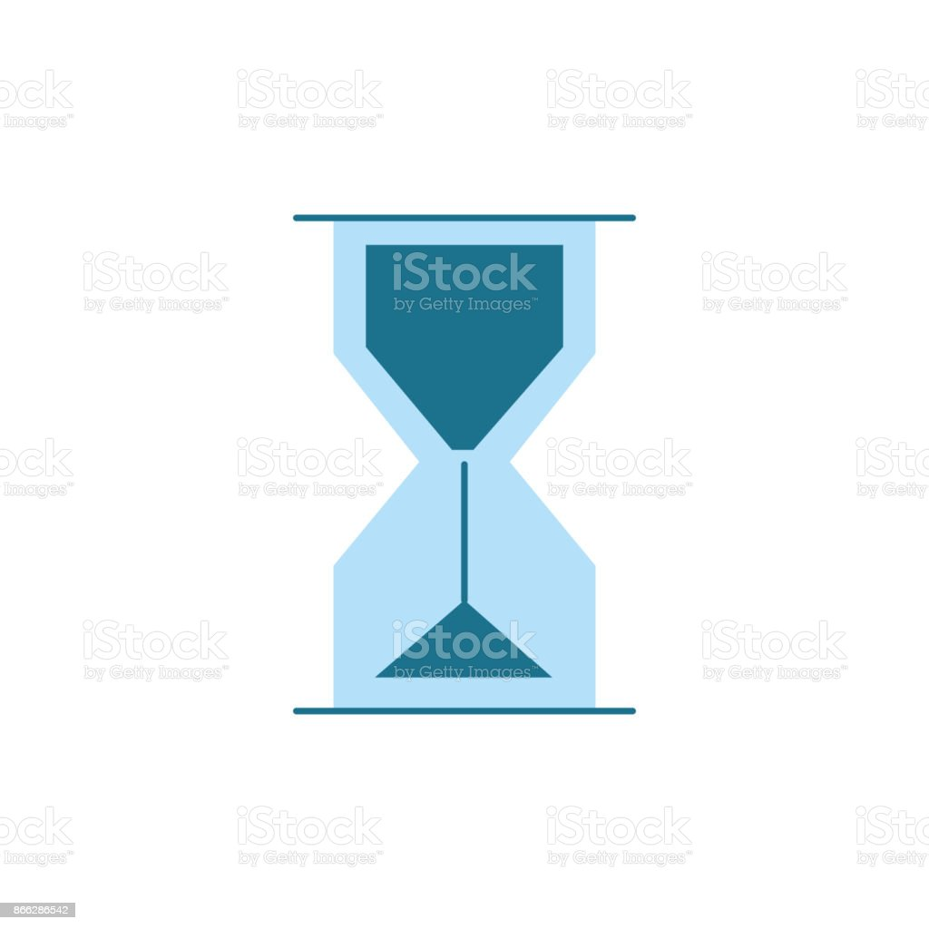 hourglass object design to know the time vector art illustration