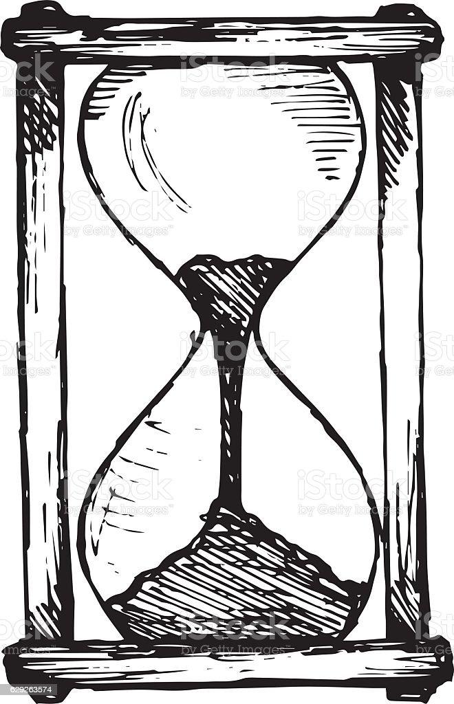 ilustra u00e7 u00e3o de ampulheta desenho e mais banco de imagens de hourglass vector drawing hourglass vector ai