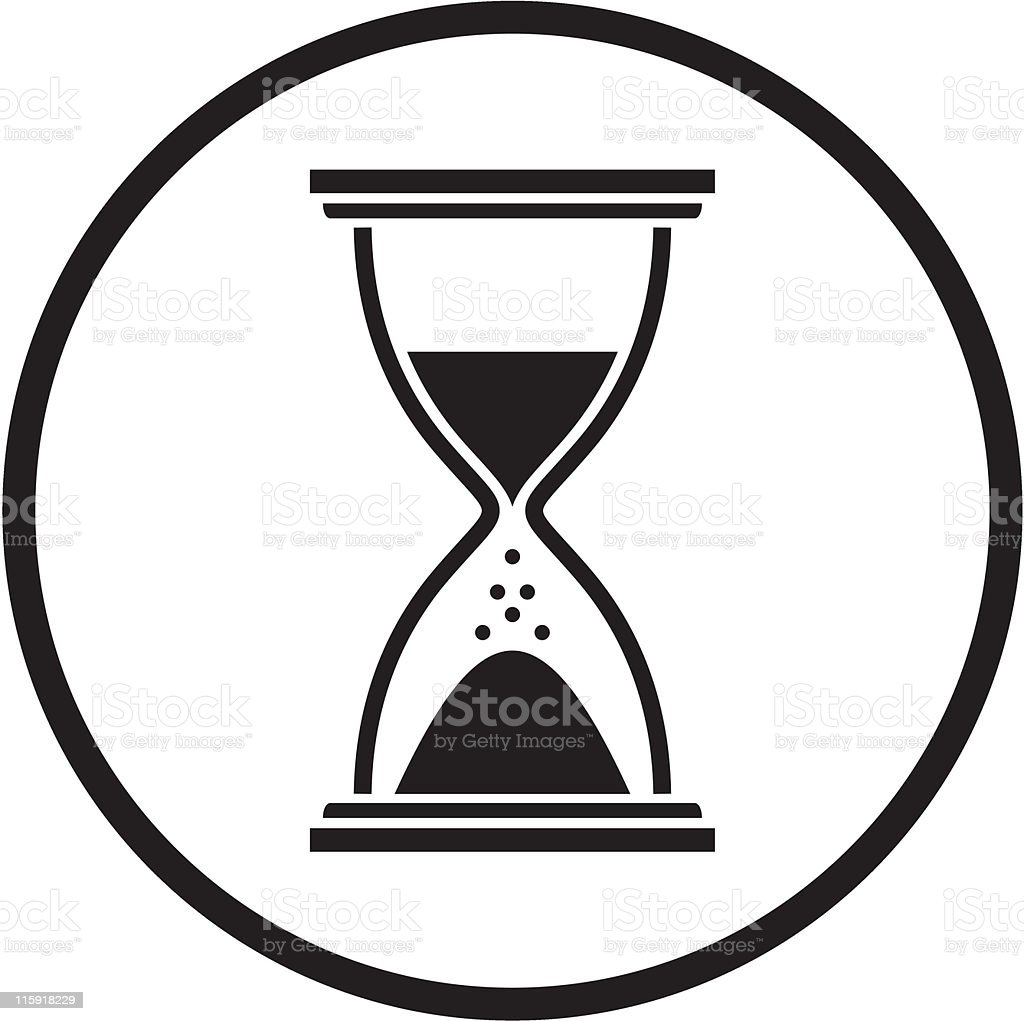 Hourglass royalty-free hourglass stock vector art & more images of clip art