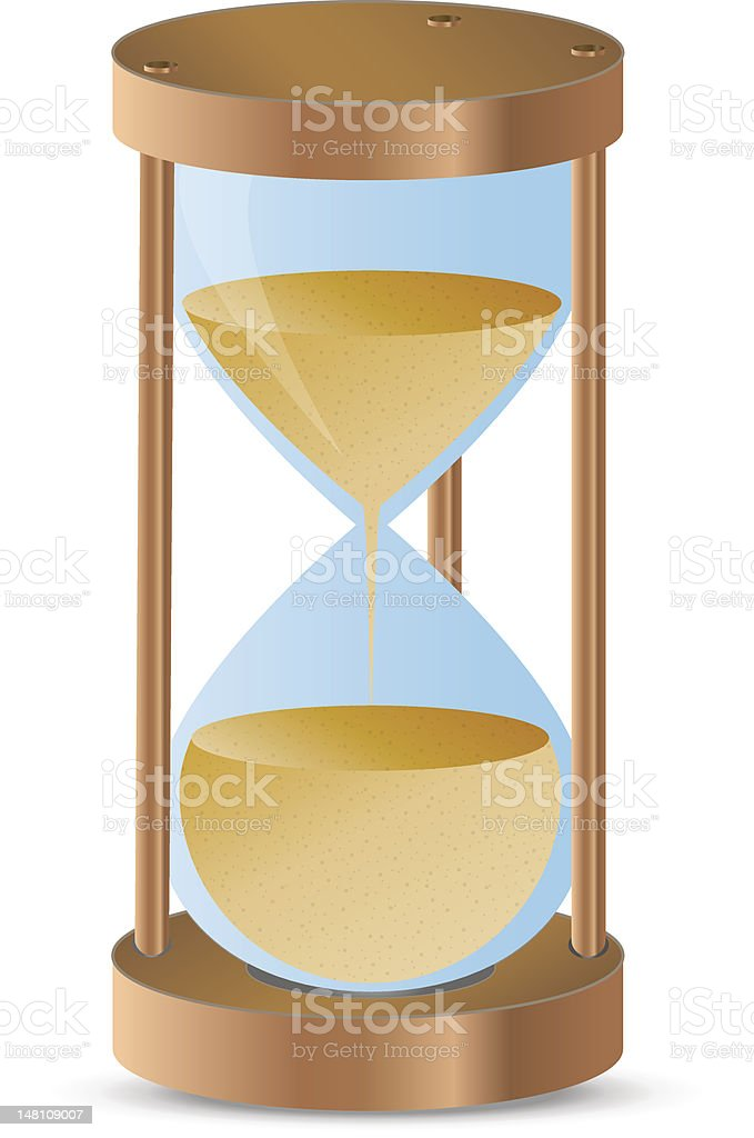 Hourglass royalty-free hourglass stock vector art & more images of clock