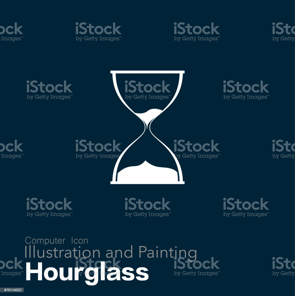 hourglass vector art illustration
