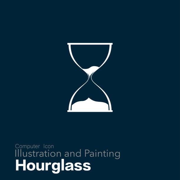 hourglass - ilustração de arte vetorial
