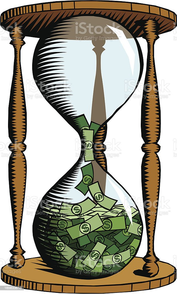 Hourglass with money royalty-free hourglass with money stock vector art & more images of banking