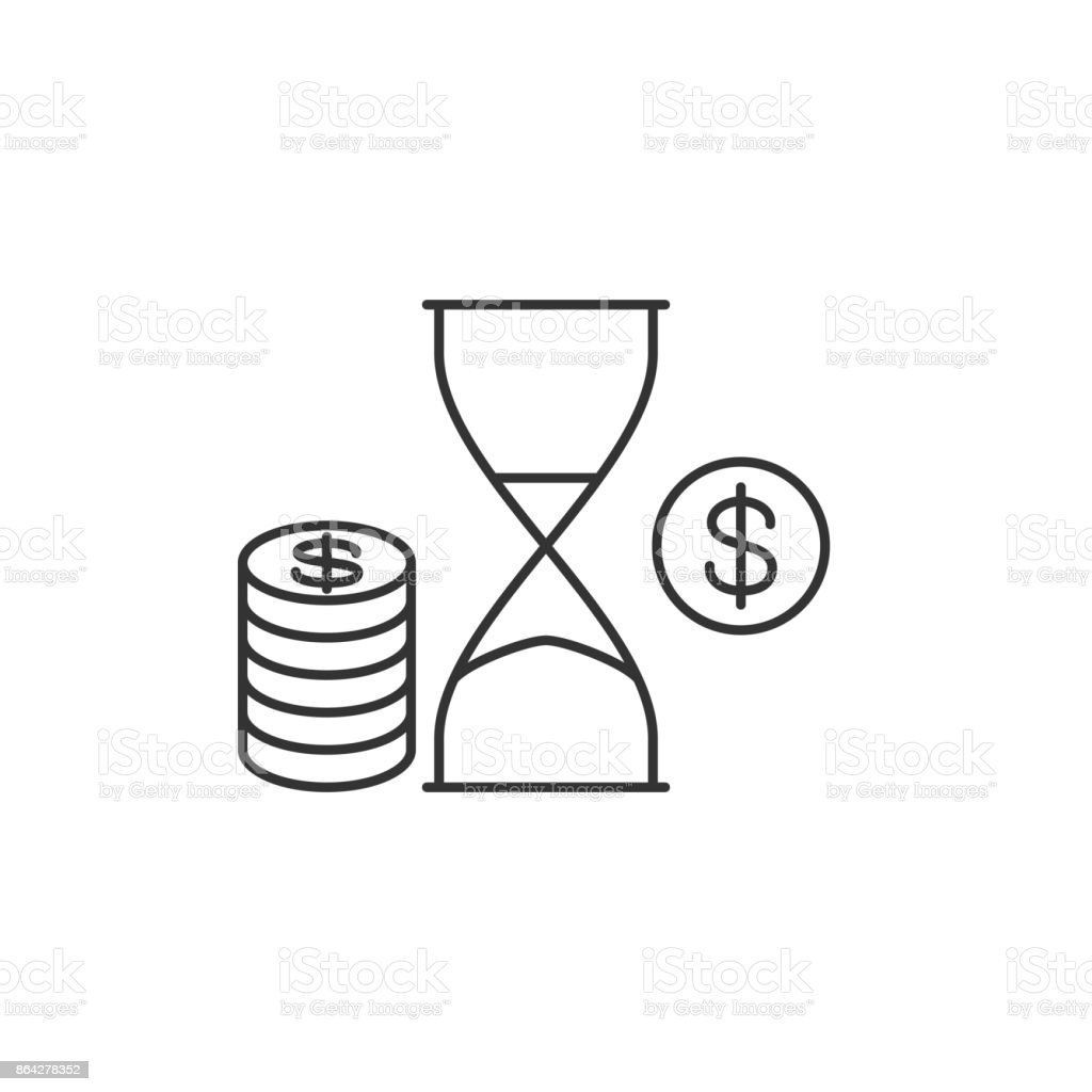 Hourglass with penny royalty-free hourglass with penny stock vector art & more images of benefit concert