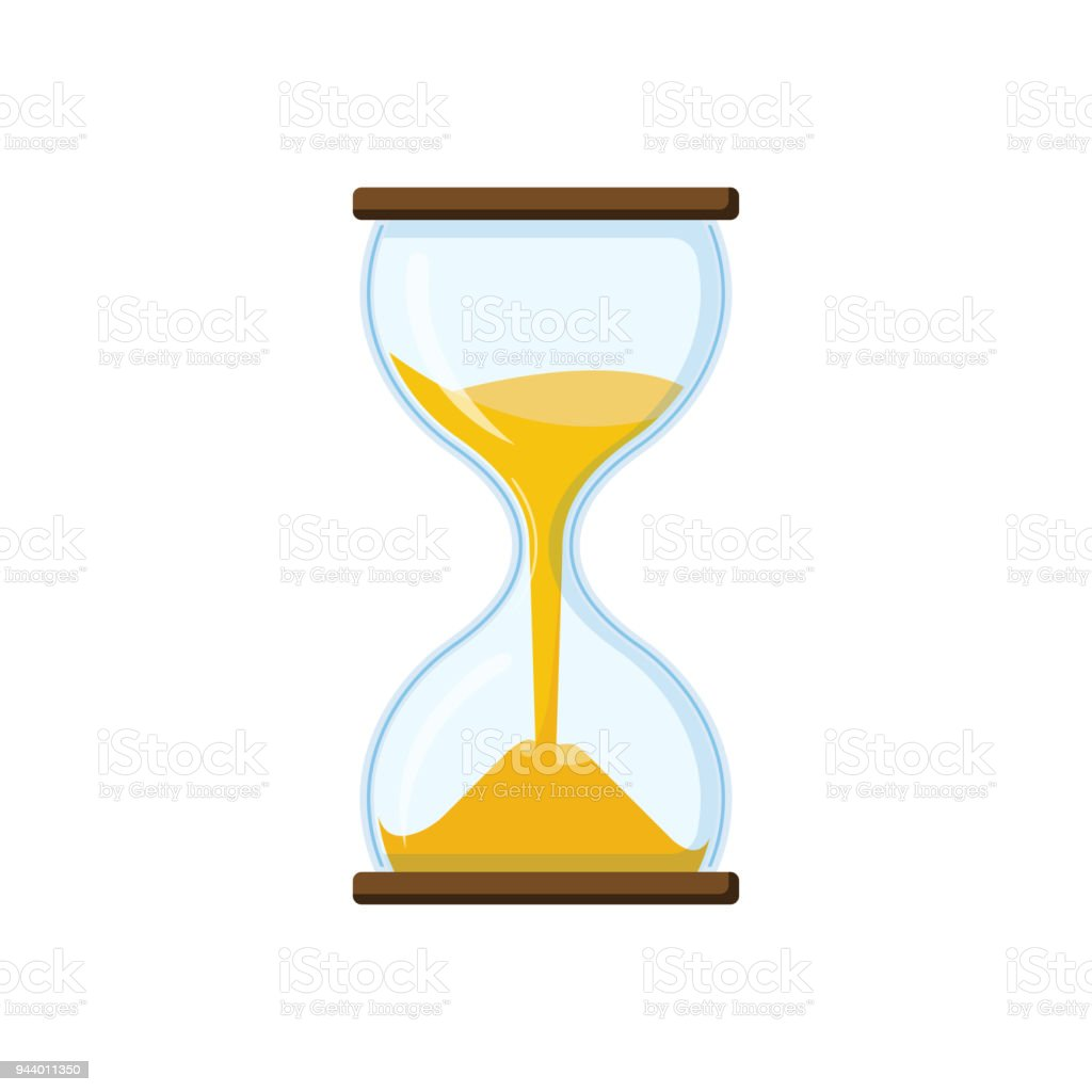 Hourglass with transparent glass - Royalty-free Antique stock vector