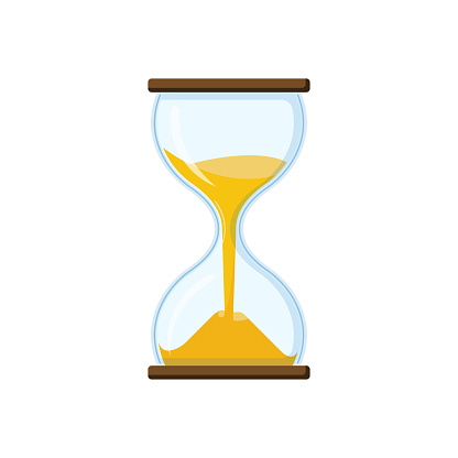 Hourglass With Transparent Glass Stock Illustration - Download Image Now