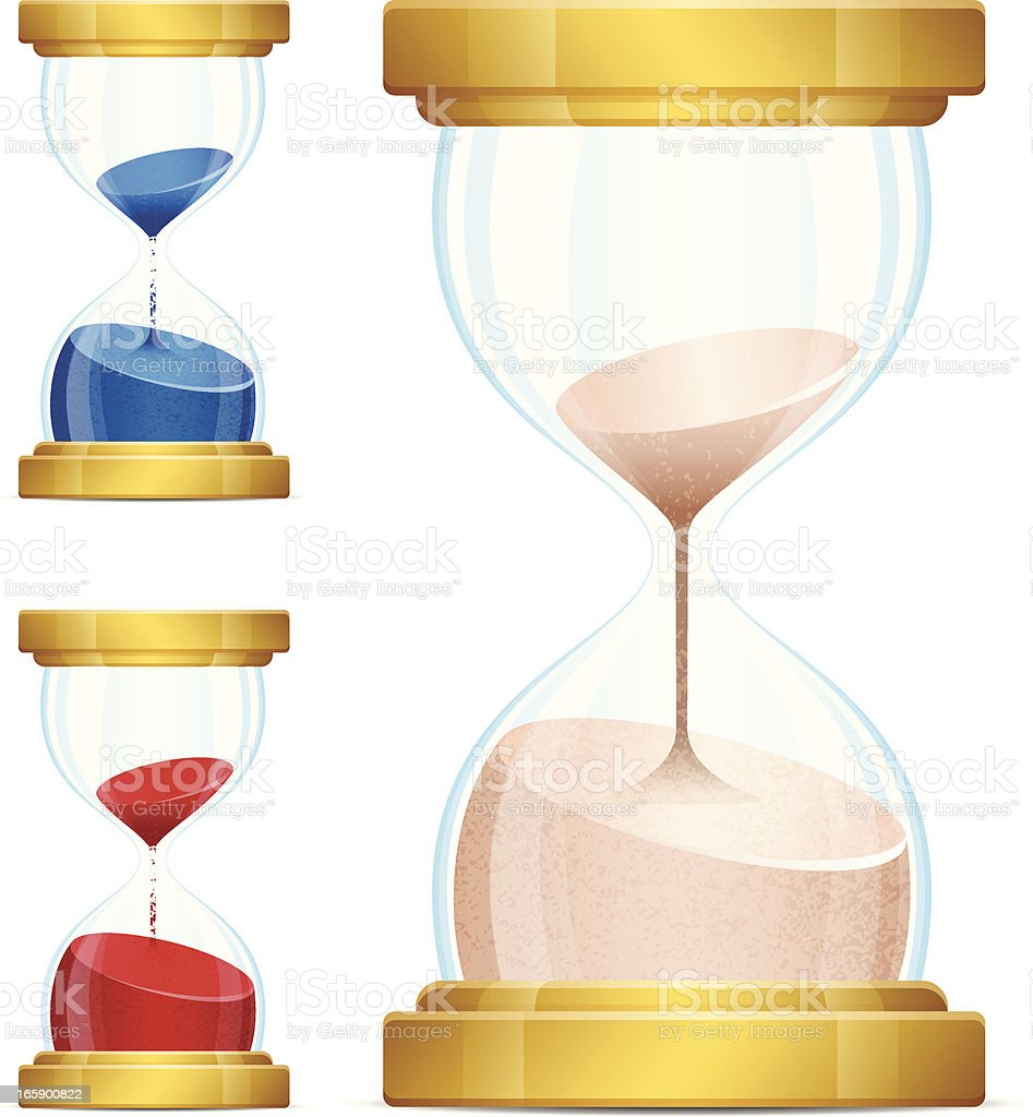 Hourglasses royalty-free hourglasses stock vector art & more images of blue