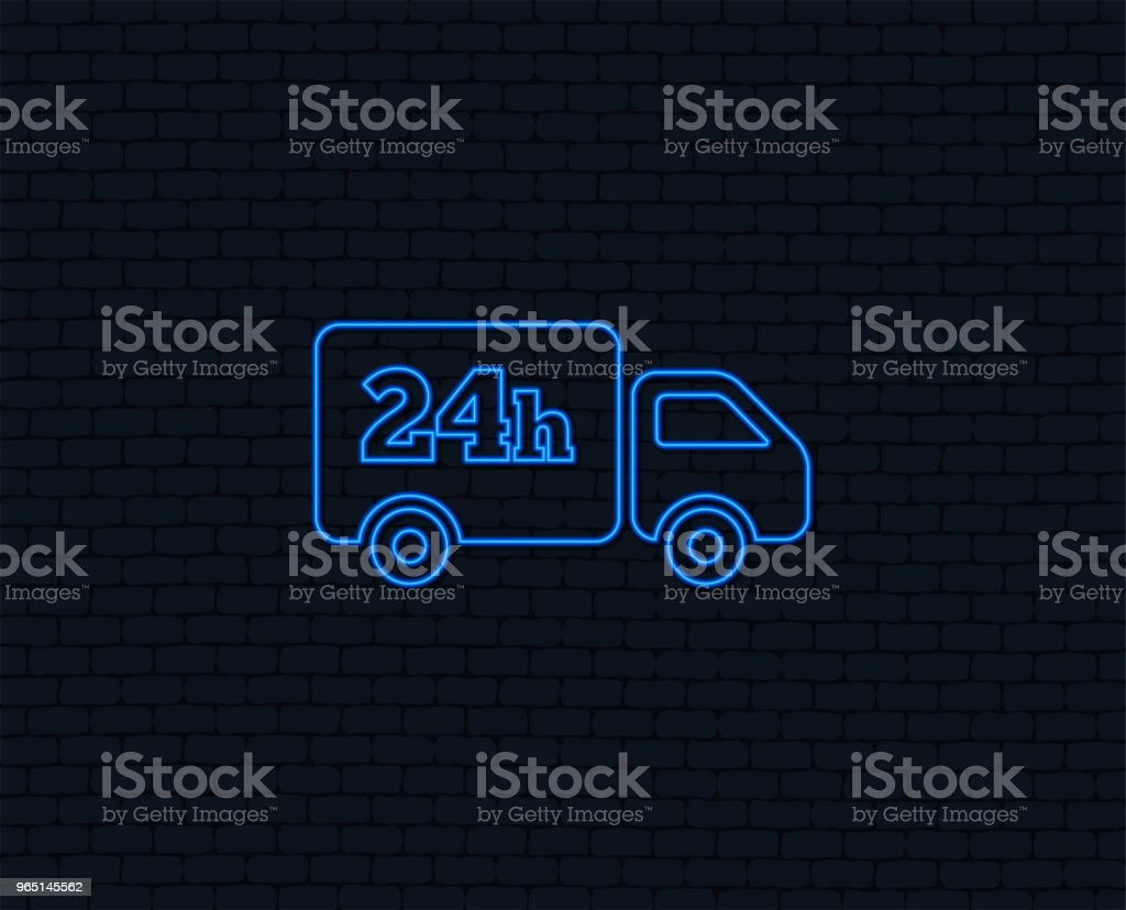 24 hours delivery service. Cargo truck symbol. royalty-free 24 hours delivery service cargo truck symbol stock vector art & more images of art