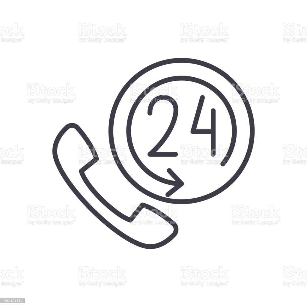 24 hours support black icon concept. 24 hours support flat  vector symbol, sign, illustration. royalty-free 24 hours support black icon concept 24 hours support flat vector symbol sign illustration stock vector art & more images of arrow symbol