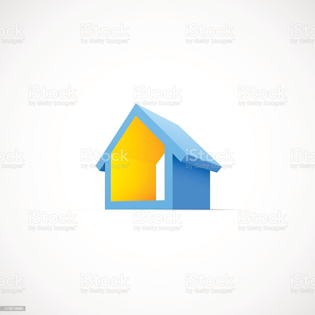 House abstract real estate icon vector art illustration