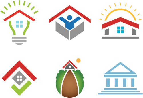 House and business building social community logo construction marketing