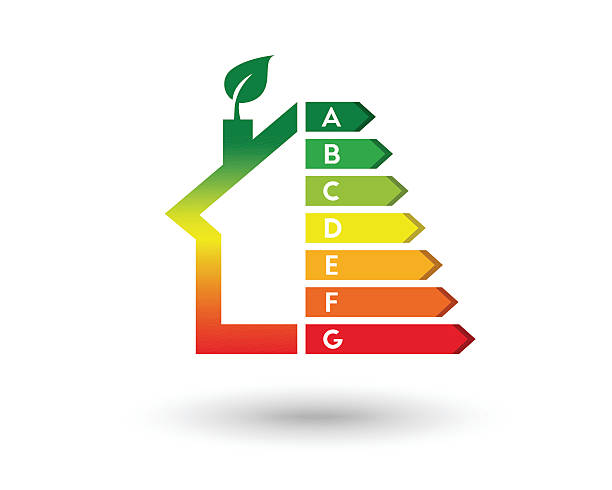 house and energy efficiency concept - energy saving stock illustrations, clip art, cartoons, & icons
