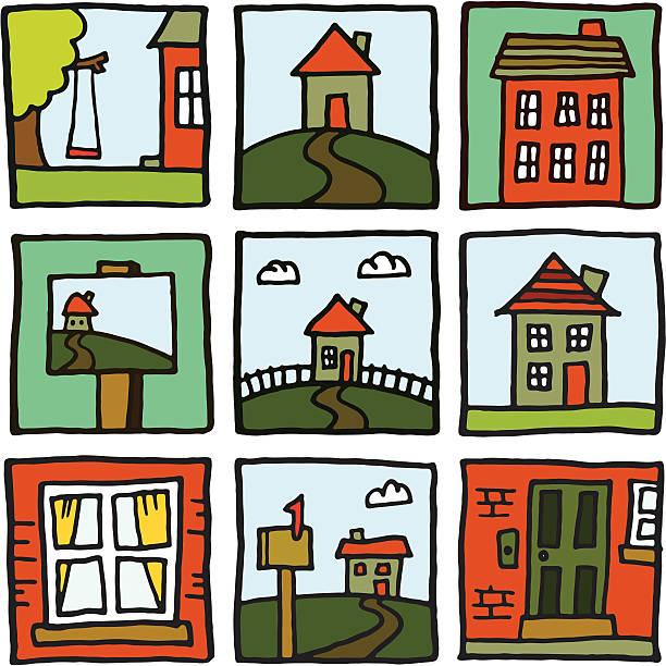 Heim und Haus Drucke – Vektorgrafik