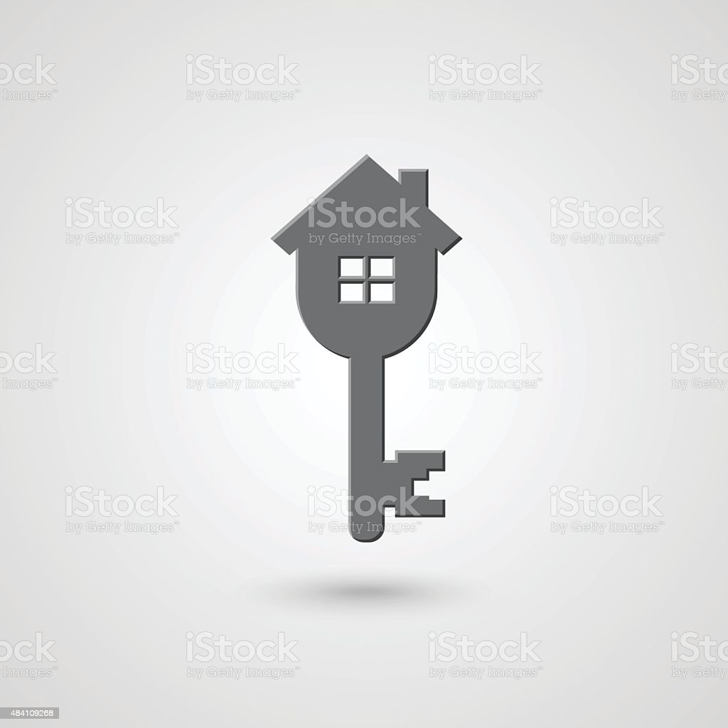 house and key design royalty free stock vector art